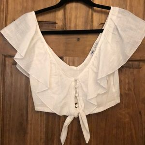 Zara deep V crop top. Size small.
